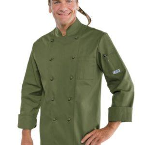 giacca cuoco verde militare