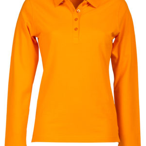 Polo manica lunga donna colorata