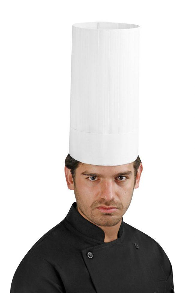 Cappello chef rigido lavabile