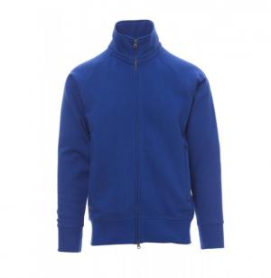 Felpa zip blu royal