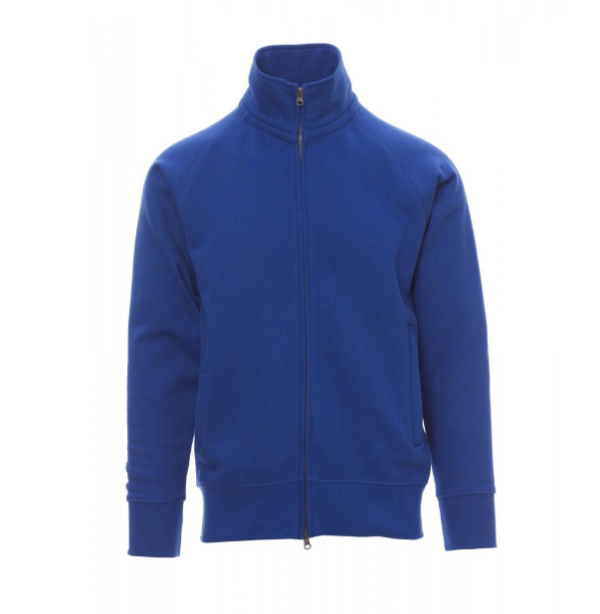 Felpa zip blu royal